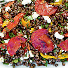 Puy Lentil, Chorizo And Goat's Cheese Salad