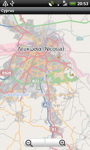 Cyprus Street Map