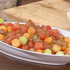 Fresh Melon with Crisp Amaretti Topping