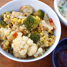 Cauliflower And Broccoli Florets With Sweetcorn
