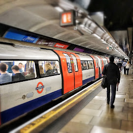 A Quiet Rush Hour by Ian McCutcheon - City,  Street & Park  Street Scenes ( london, tilt, station, tube, underground, shift )