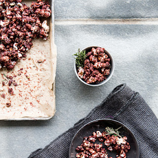 Dark Chocolate Popcorn Party Mix + Rosemary Sea Salt