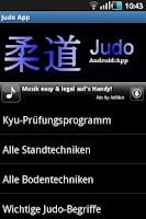 Screenshot of Judo App