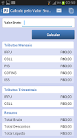Screenshot of Calculadora de Tributos PJ