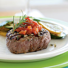 Rosemary Grilled Steak with Tomato Jam