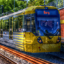 Tram to Bury by Stephen Hall - Transportation Trains ( bury, train, tram, manchester, metrolink )