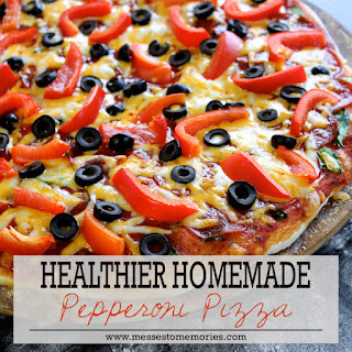 HEALTHIER HOMEMADE PEPPERONI PIZZA