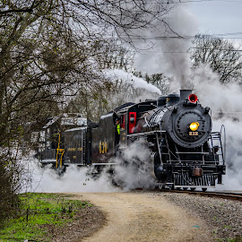 Full Head of Steam by Bokeh Phototography - Transportation Trains ( southern, engine, train, bokeh photo, alabama, 630, steam )