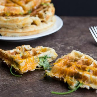 Ham, Cheese And Spinach Waffles