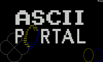 Screenshot of ASCII pOrtal