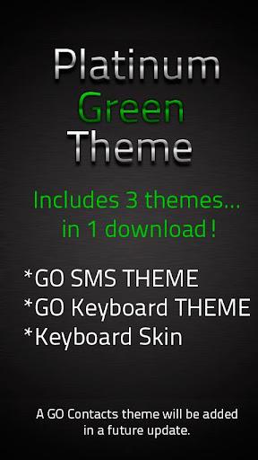 GO SMS Green Platinum Theme