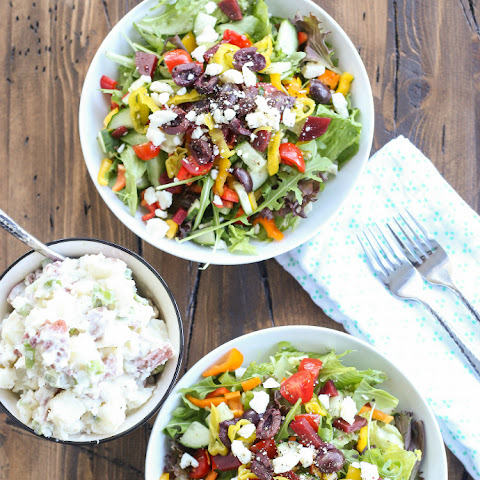 Greek Salad with Potato Salad