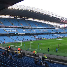 Manchester City - The Etihad Stadium by Ross Davies - Sports & Fitness Soccer/Association football ( etihad stadium, stadium, manchester, soccer, manchester city )