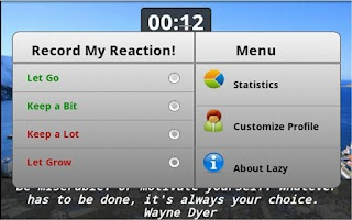 Screenshot of Let Go Laziness