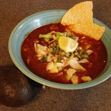 Pozole Rojo - Pork and Hominy Stew