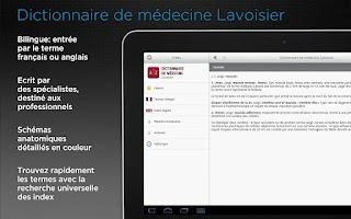 Screenshot of Dictionnaire Lavoisier