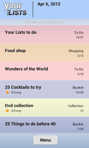 Your Task Custom Lists Lite