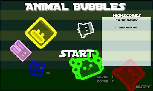 動物バブルシューター