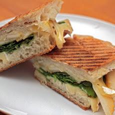 chicken sausage brie panini just a taste multigrain bread arugula brie ...