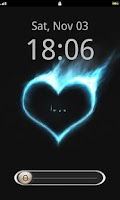 Screenshot of Love Lock Screen Theme