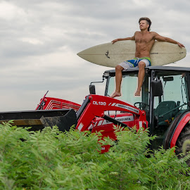 by Adam Johnson - People Portraits of Men ( surf, kansas, tractor )