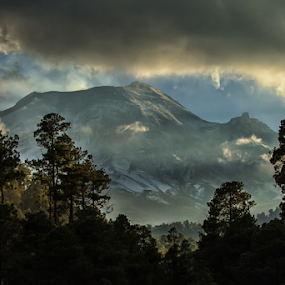 Popocatepetl and forest by Cristobal Garciaferro Rubio - Landscapes Mountains & Hills ( poppo, volcano, mountain, fores, smoking volcano )