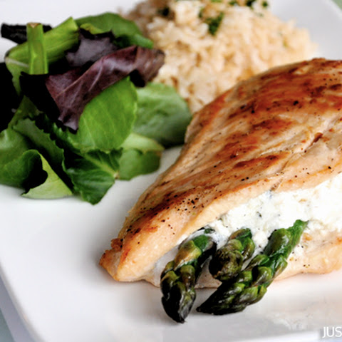 Asparagus and Goat Cheese Stuffed Chicken