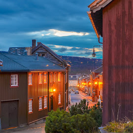 Old Norway by Norman Pozuelos - City,  Street & Park  Neighborhoods ( houses, street )