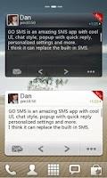 Screenshot of GO SMS Pro Widget