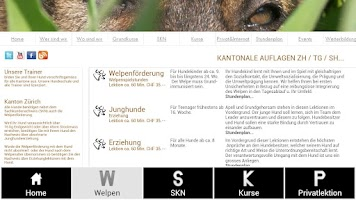 Screenshot of Hundeschule Zürich mit SKN