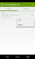 Screenshot of Arrivo Wellington Lite Transit