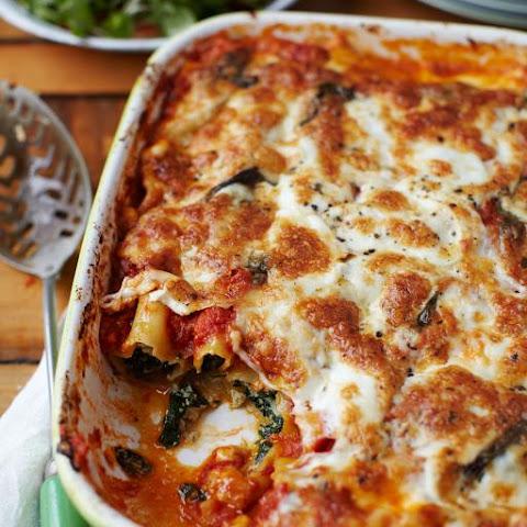 Light Ricotta, Spinach and Pumpkin Cannelloni Recipe | Yummly