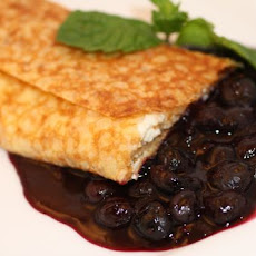 Fromage Blanc and Blueberry Crepe Blintzes
