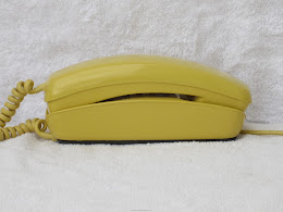 Desk Phones - Western Electric 1220A AD1 10 Button Trimline Yellow 1