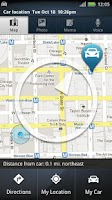 Screenshot of Motorola Car Finder