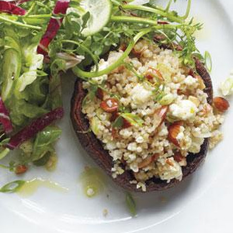 Stuffed Portobello Mushrooms With Feta