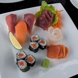 sushi by Vibeke Friis - Food & Drink Plated Food ( raw, fish, healthy, japanese )