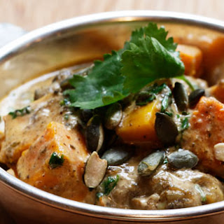 Hixter's Indian Rock chicken and pumpkin curry