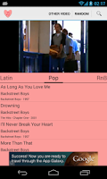 Screenshot of Love songs