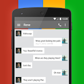 EvolveSMS Theme - G+ Chrome for Lollipop - Android 5.0
