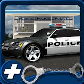 3D-Polizei-Auto Parken