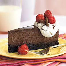 Raspberry-Chocolate Truffle Cheesecake