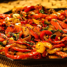 Roasted Bell peppers by Jere Witter - Food & Drink Plated Food