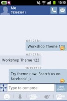 Screenshot of GO SMS Theme Blue White
