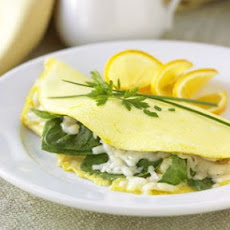Spinach and Gruyère Omelette