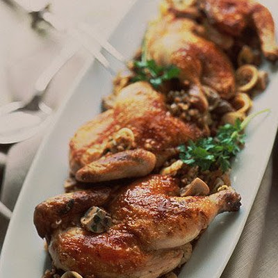 Cornish Hens with Kasha Pilaf