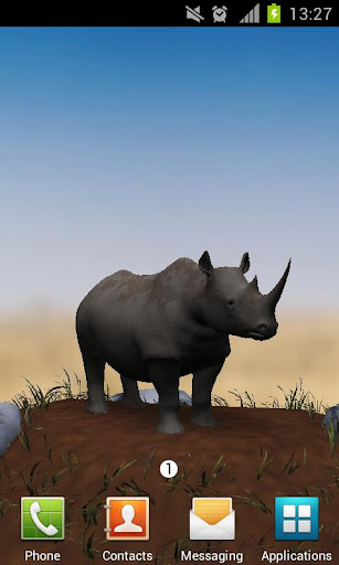 Save The Rhinos Live Wallpaper