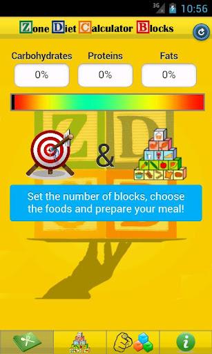 Zone Diet Calculator Blocks LT