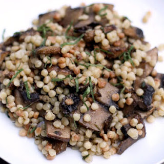 Fregola with Mushrooms, Rosemary, and Sage