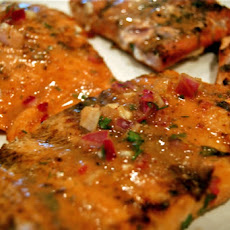 Salmon with Sesame and Orange-Ginger Relish